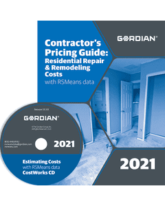 2021 Contractors Pricing Guide: Residential Repair & Remodeling CD