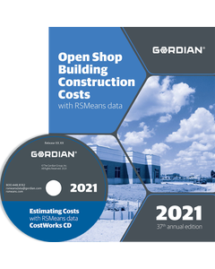 2021 Open Shop Building Construction Cost Data CD