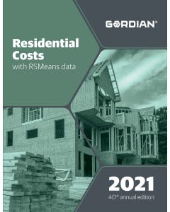 2021 Residential Cost Data CD