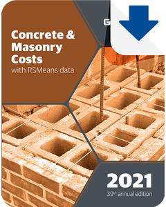 2021 Concrete & Masonry Cost Data eBook