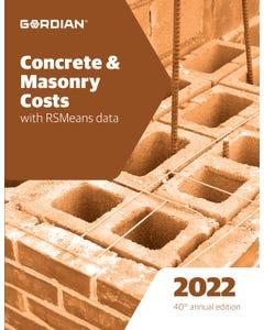 2022 Concrete & Masonry Costs Book