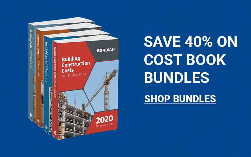 Save 40% On RSMeans Costbooks