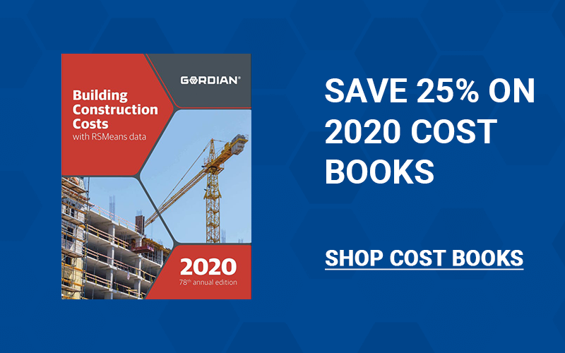 Save 25% on RSMeans Cost Books